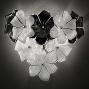 1970s-style flower wall  light in the Cenedese style