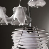 Faretto black or white acrylic pendant light from Slamp