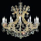 12 Light Crystal Glass Chandelier