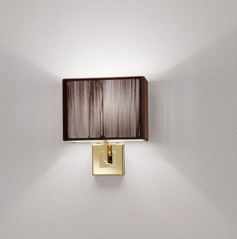 Clavius gold framed wall light from Axo Light