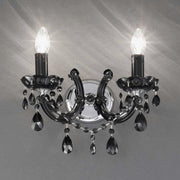 2 light blown and acrylic glass wall chandelier - 5 colours
