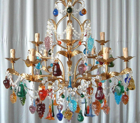 Murano Fruit Chandelier