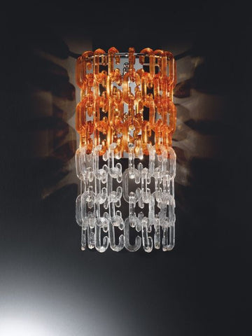 Murano glass wall light with rings in several colours
