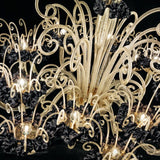 Bride 16 light black and gold De Majo chandelier