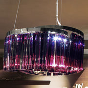 Modern purple or clear glass prism ceiling light