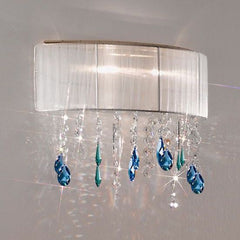 Wall light with Swarovski crystals in 4 colourways