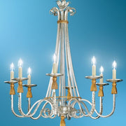 Silver Leaf Iron Chandelier