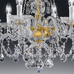 Classic 24% lead crystal chandelier from Italy with 6 lights