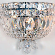 Cut crystal wall light with palladium frame