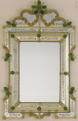 Beautiful Hand-etched Venetian Mirror