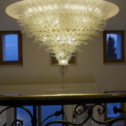 Murano glass oval custom centrepiece ceiling light