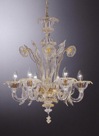 Clear crystal with gold murano chandelier traditional crystal murano crystal chandelier with gold decorations aloadofball Gallery