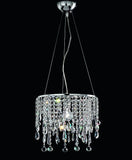 Modern Italian ceiling light with cut crystal pendants