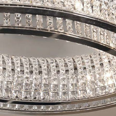 Ring ceiling light by Marchetti with clear glass crystals