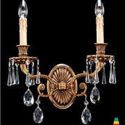 Ornate 40 cm French gold wall light from Italy