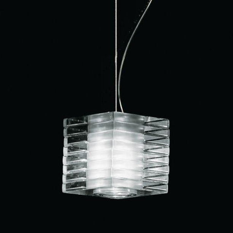 Murano glass pendant with rotatable discs