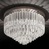 50 cm Murano prism ceiling light with bronze frame