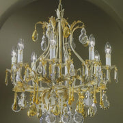 Cream 8 light Venetian chandelier with Murano glass fruit