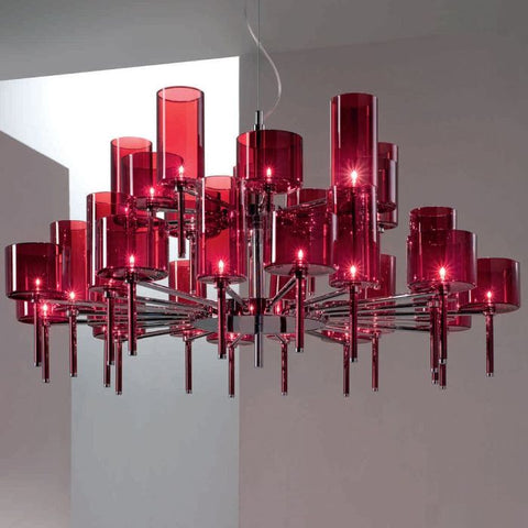 Grey, red or orange SP30 round chandelier from Axo Light