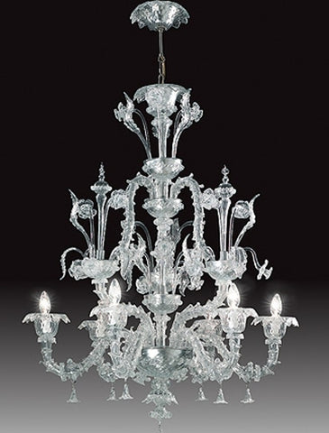 Rezzonico-style Venetian chandelier in a choice of colours