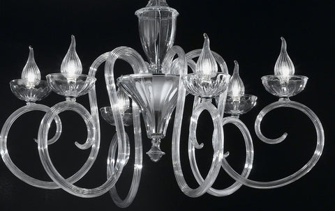 "Murano crystal ""Baroque"" chandelier"