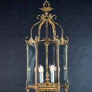 Ornate French gold lantern with 6 lights