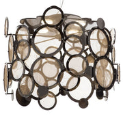 Fabulous disc ceiling pendant with 5 metal finishes