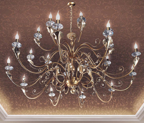 Large Modern Chandelier with Cut Crystal Decoration