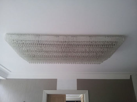 2.5 Metre Glass Prism Ceiling Chandelier