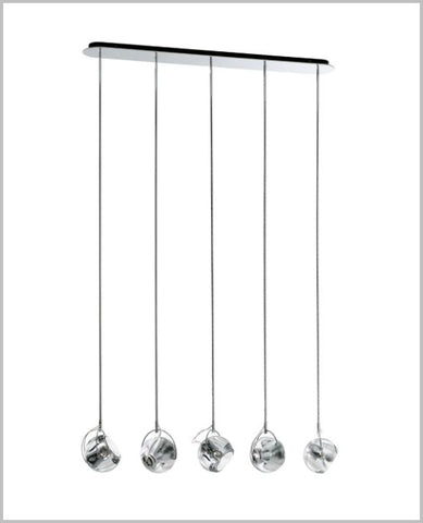 Fabbian Beluga D57 Colour A15 5 spot ceiling light in 6 colours