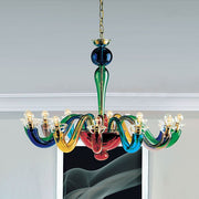 Serenissima multi-coloured Italian glass chandelier from Leucos