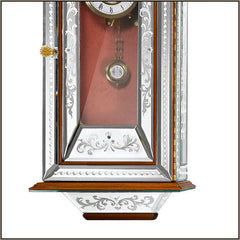 Walnut and Venetian mirror pendulum wall clock