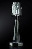 Sculptural clear crystal Italian table light