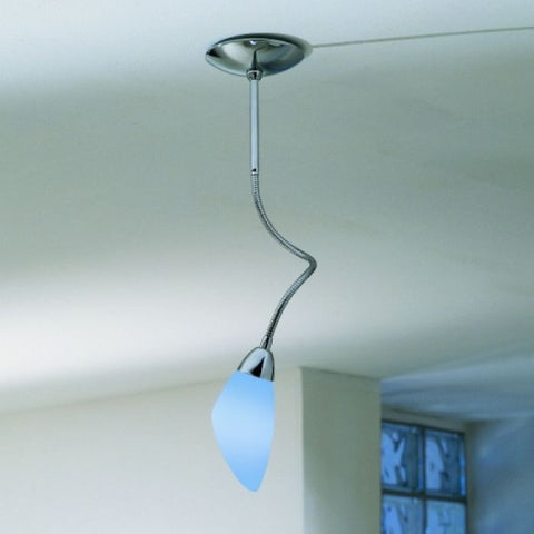 Modern chrome and  Murano glass spot light in 15 colours
