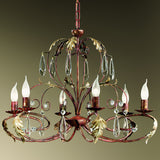 Wrought Iron 6 Arm Chandelier