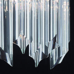 30 cm tall Murano glass prism wall light