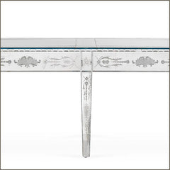 Exquisite three-metre-long Venetian mirror dining table