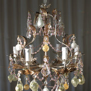 Silver Frame Fruit Chandelier