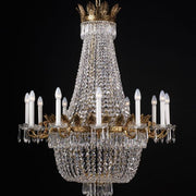 French gold and crystal Empire style chandelier12