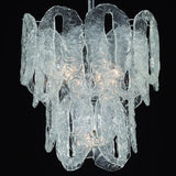 Ghiaccio or cracked ice glass chandelier in custom sizes