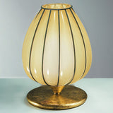 Antiqued amber Murano glass table light with gold leaf fitting