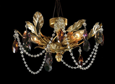 Bohemian Crystal Ceiling Light