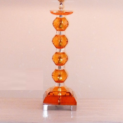 Italian amber glass table lamp at reduced sale price