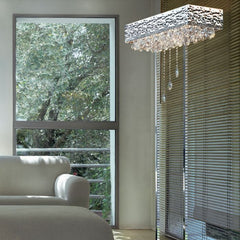 Magma 0450LT crystal & chrome floor lamp