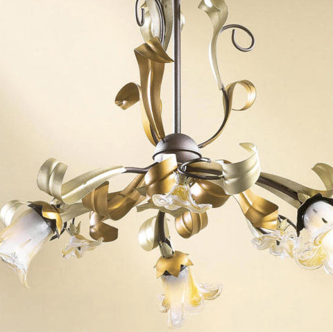 Three Arm Floral Ceiling Pendant