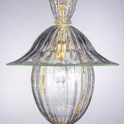 Gold Murano glass lantern