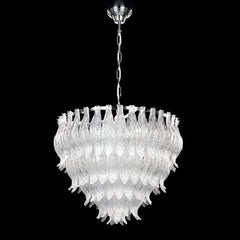 50 cm clear Murano glass chandelier with gold or chrome frame