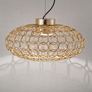 G.R.A. oval gold ring ceiling pendant by Terzani