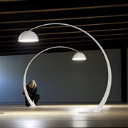 Huge arc floor lamp in 3 colours with built-in LED
