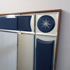 Large Murano glass mirror with custom-coloured inlays